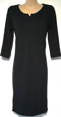 MAMALICIOUS BLACK 3/4 SLEEVED ZIP FRONT NURSING DRESS S 10